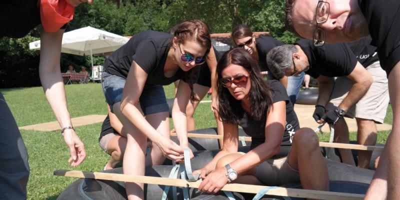 Flossbau als Teamevent