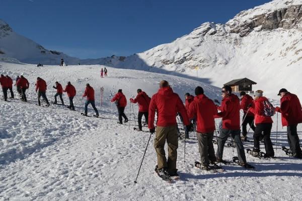Schneeschuhtour als Teamevent