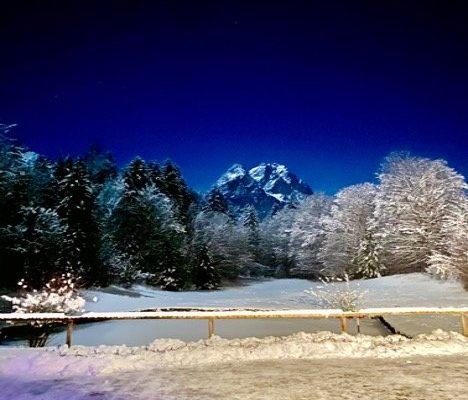 Winternacht Garmisch